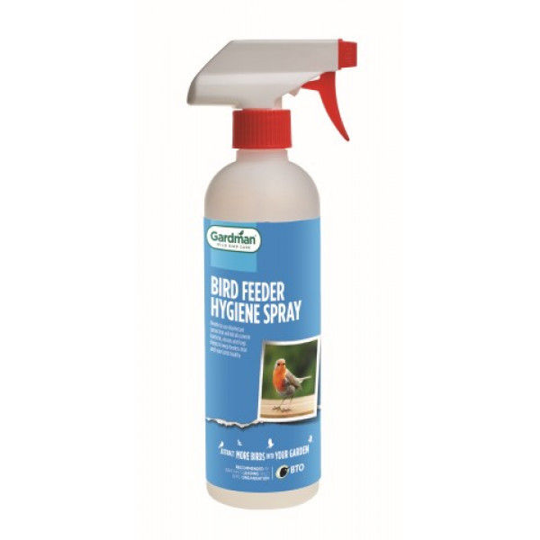 Bird feeder hygiene spray
