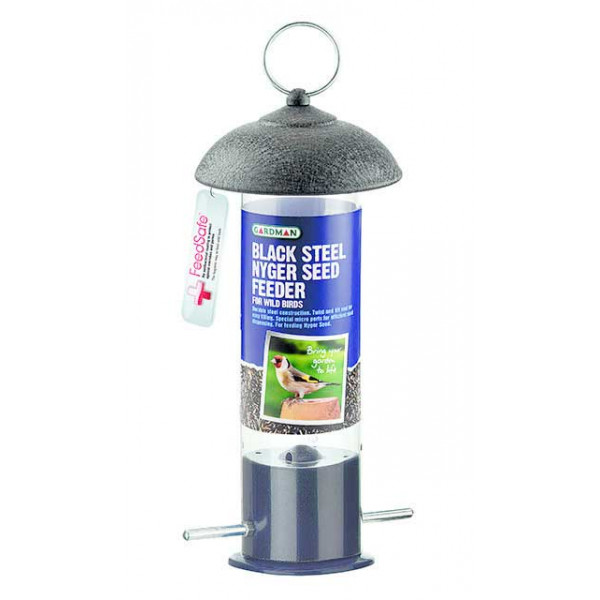 Gardman Mini Silo Niger seed feeder Garden Bird Feeders British Bird Food - UK wild bird food suppliers, bird seed and garden wildlife