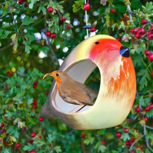 Ceramic Robin feeder at British Bird Food
