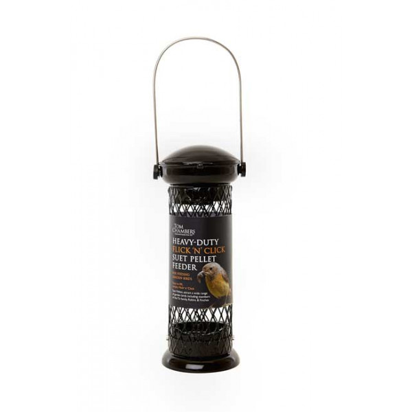 Heavy duty Flick 'n Click suet pellet feeder Special Bird Feeders British Bird Food - UK wild bird food suppliers, bird seed and garden wildlife