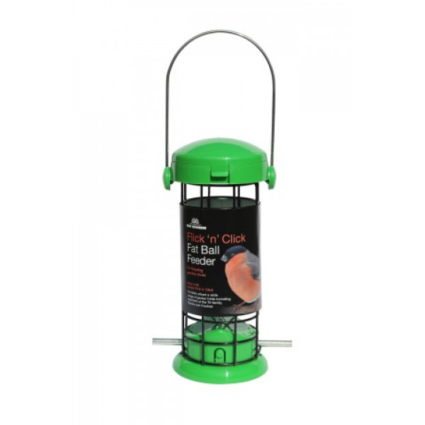 Tom Chambers flick and click Suet ball feeder