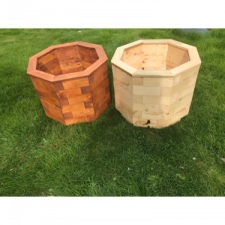 Hand made wooden planters
