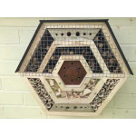 Hand made hex bee and insect haven