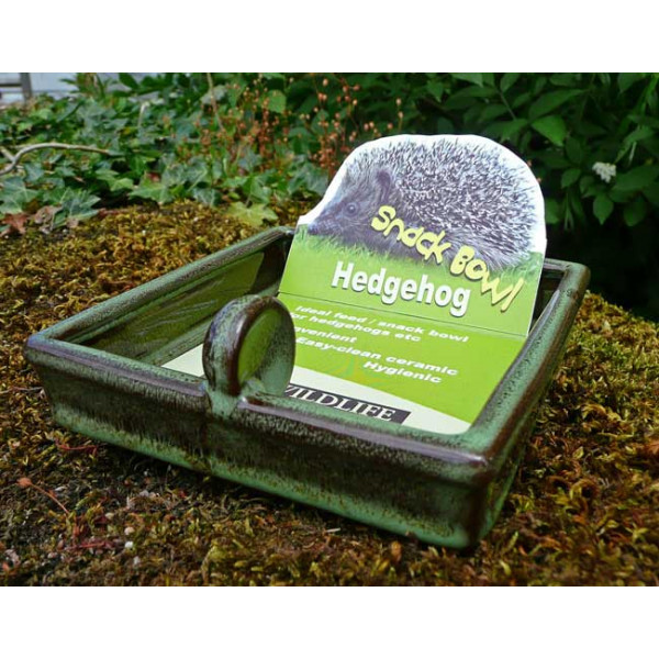 Hedgehog snack bowl Hedgehogs British Bird Food - UK wild bird food suppliers, bird seed and garden wildlife