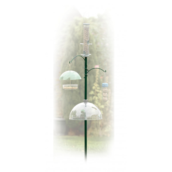 Three way feeder station Pole Systems and Hooks British Bird Food - UK wild bird food suppliers, bird seed and garden wildlife
