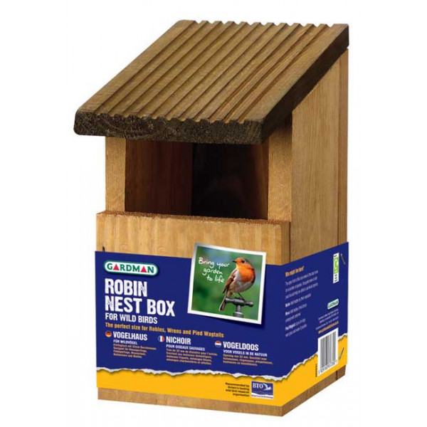 Robin nest box Wild Bird Nest Boxes British Bird Food - UK wild bird food suppliers, bird seed and garden wildlife