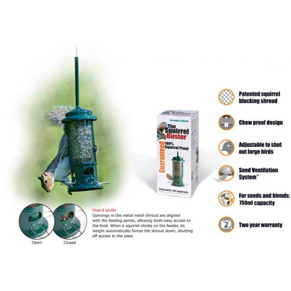 The Squirrel Buster Squirrel Proof Feeders British Bird Food - UK wild bird food suppliers, bird seed and garden wildlife