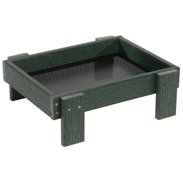 Ground tray green Ground Bird Feeders British Bird Food - UK wild bird food suppliers, bird seed and garden wildlife