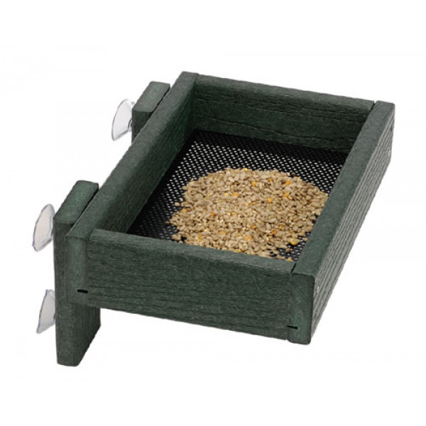 Window tray green Ground Bird Feeders British Bird Food - UK wild bird food suppliers, bird seed and garden wildlife