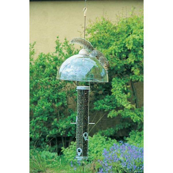 Squirrel Dome Hanging Pole Systems and Hooks British Bird Food - UK wild bird food suppliers, bird seed and garden wildlife