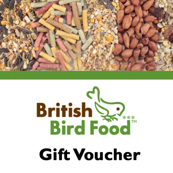 Gift Voucher Gifts - and inspiration! British Bird Food - UK bird food and mix shop